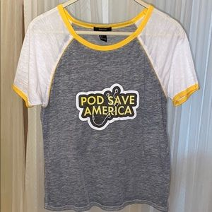 Pod save America graphic T-shirt